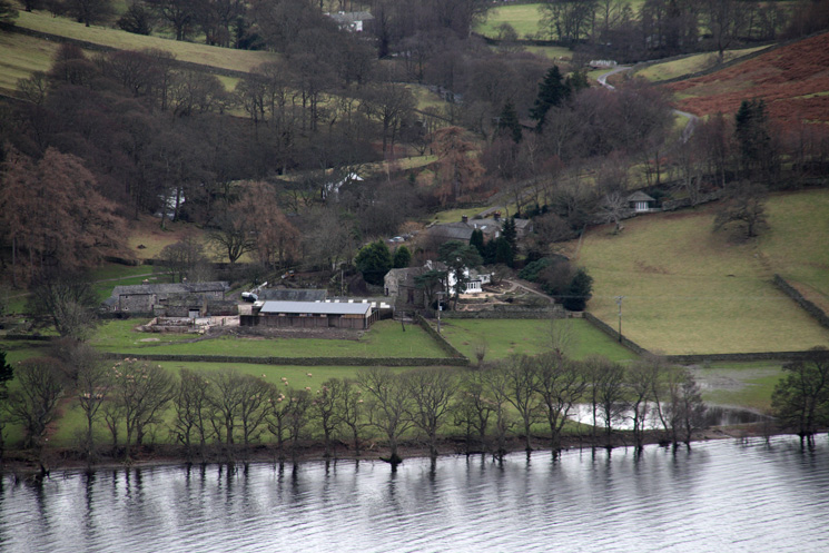Zooming in on Sandwick on the other side of Ullswater
