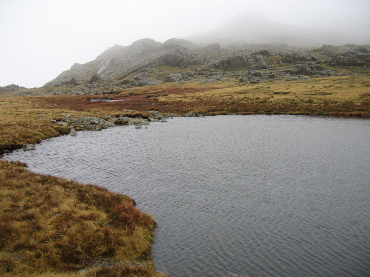 One of the tarns at Three Tarns looking towards Crinkle Crags!