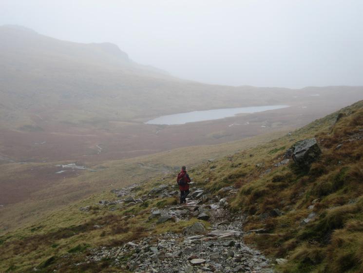 Heading down towards Red Tarn