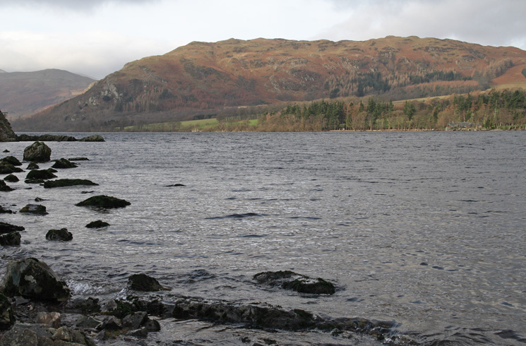 Looking across Ullswater to Gowbarrow Fell