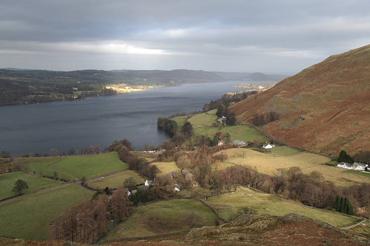 Howtown and Ullswater from Steel End