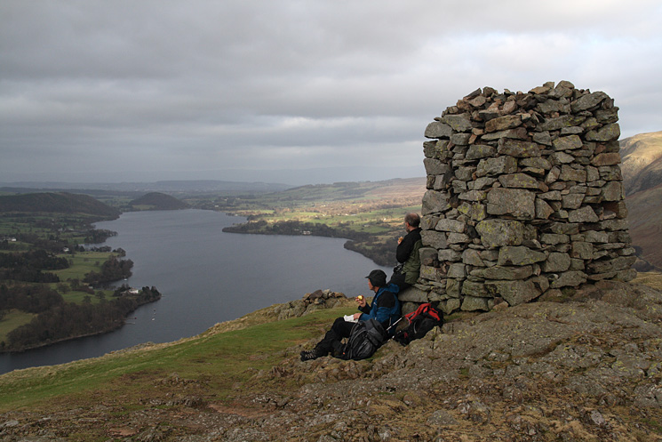 The 12 foot high obelisk at Hallin Fell's summit