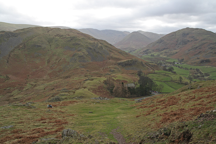 St Peter's church, Martindale in the trees at The Hause between Hallin Fell and Steel Knotts