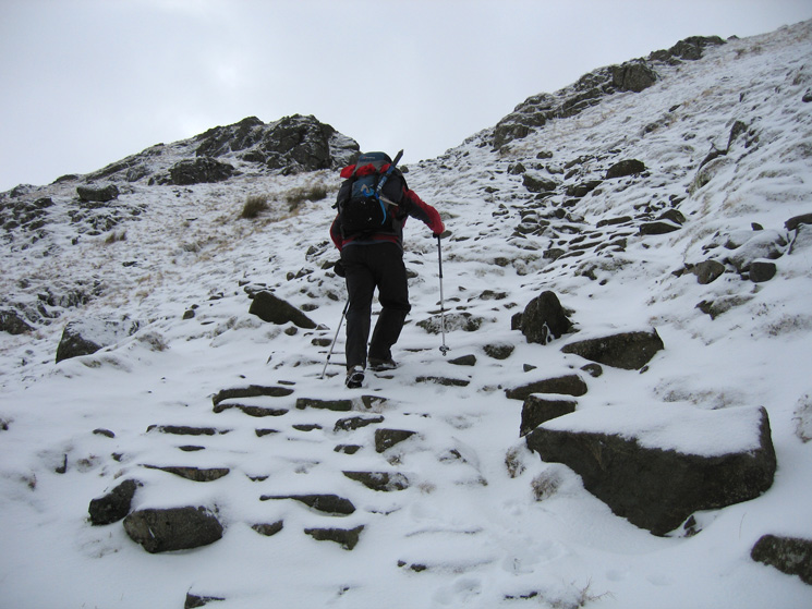 Heading up the path out of Comb Gill onto Birk Side