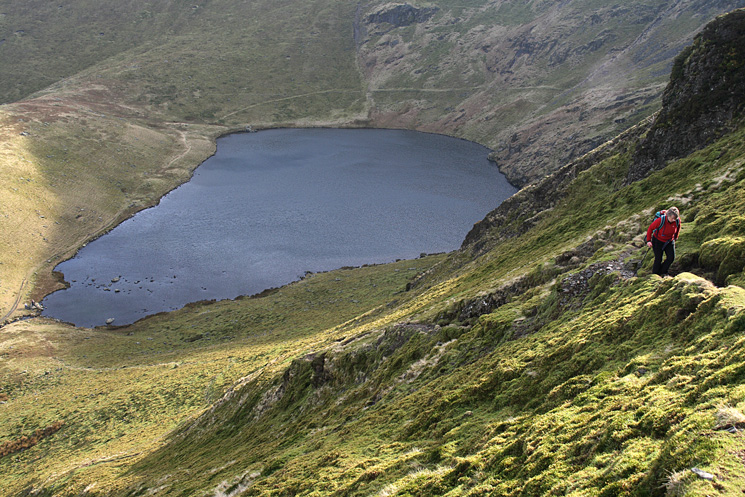 Ascending from Bowscale Tarn
