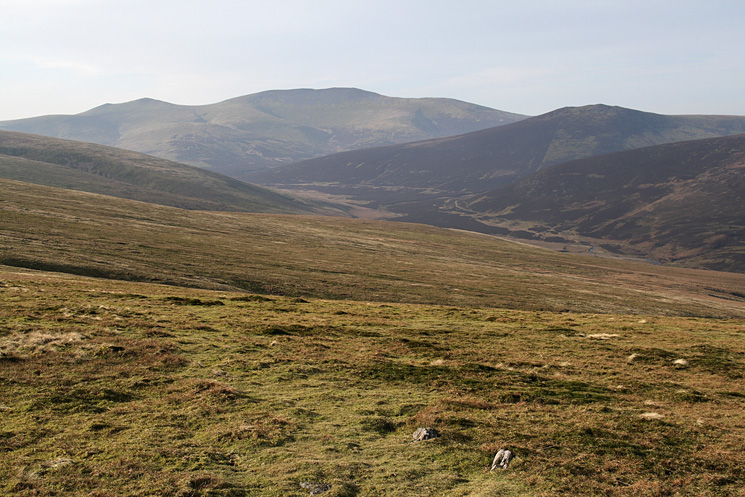 The Skiddaw fells and Great Calva from Bowscale Fell's north ridge
