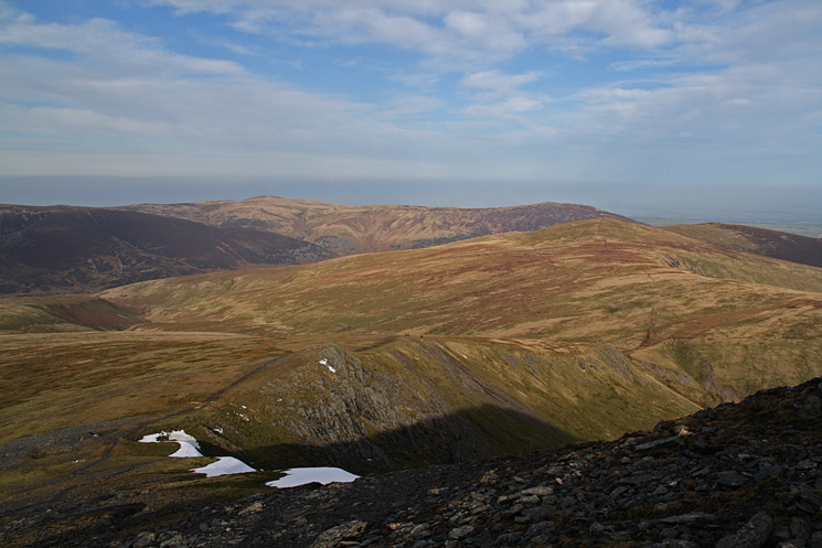 Bowscale Fell on the right with High Pike and Carrock Fell beyond