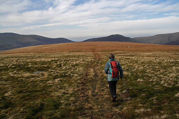 Starting the ascent to Mungrisdale Common's summit!