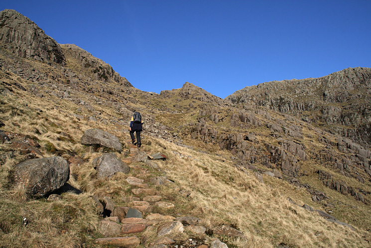 Heading up the Rossett Gill path