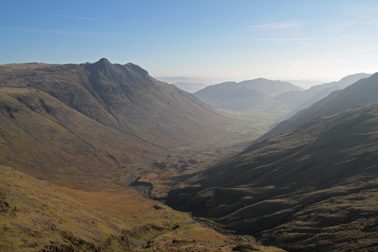 The Langdale Pikes and Mickleden