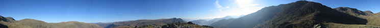 360 Panorama from Rossett Pike's summit