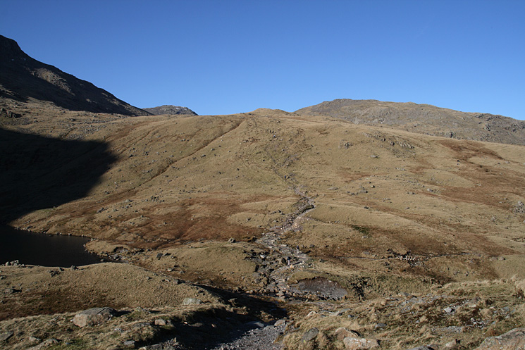 The path past Angle Tarn, heading for Esk Hause