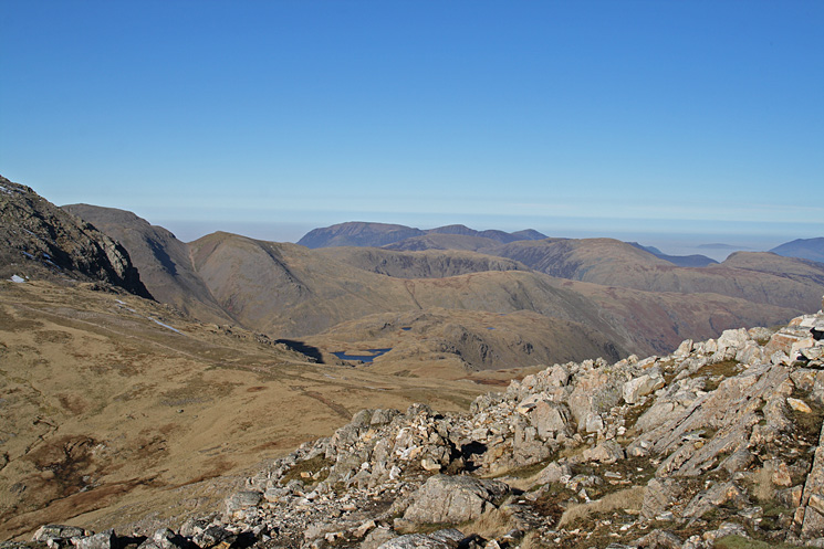 Looking across to the north western fells from Esk Pike
