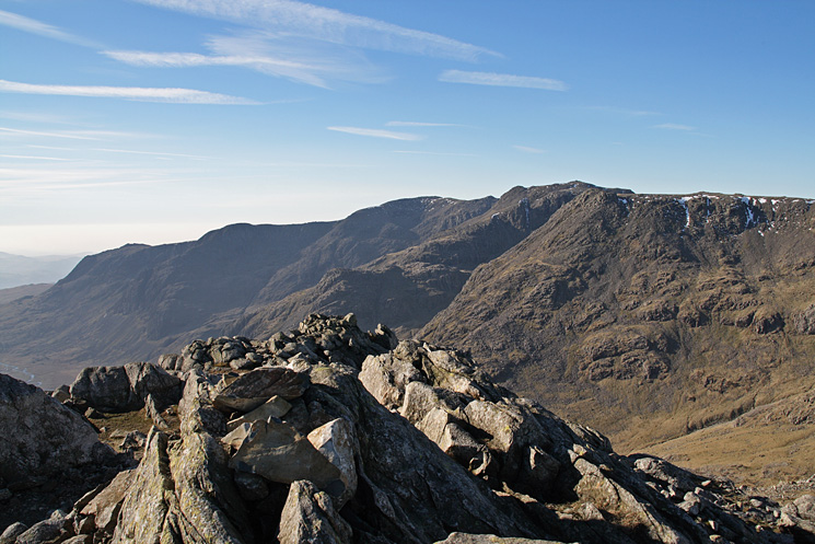 The Scafells from Esk Pike's summit