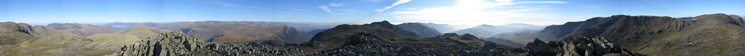 360 Panorama from Esk Pike's summit