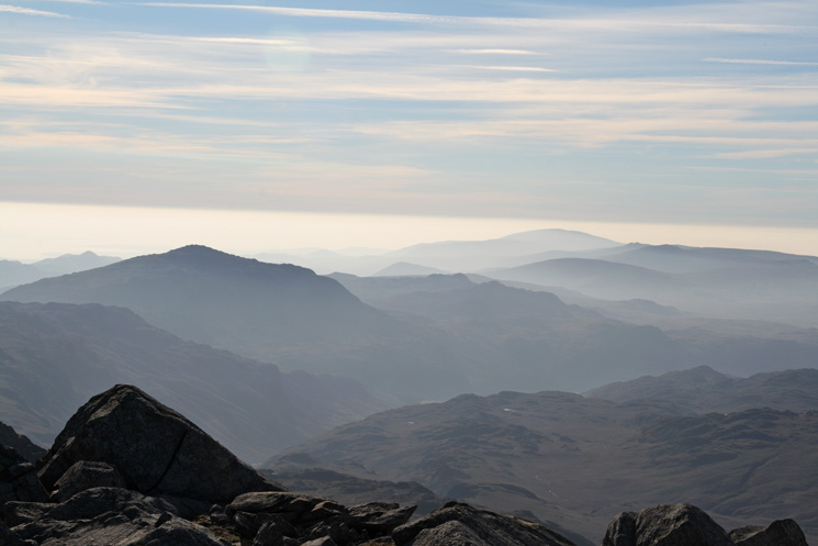 The view south from Esk Pike's summit