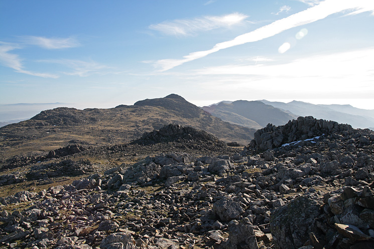 Bow Fell from Esk Pike's summit