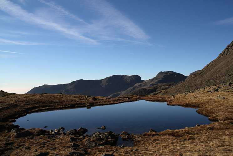 The Scafells from Three Tarns