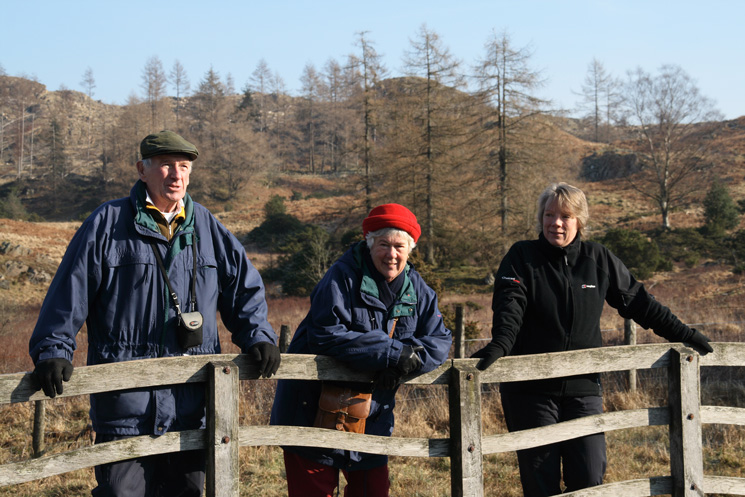 Dad, Mum and Anne at the far end of the tarn