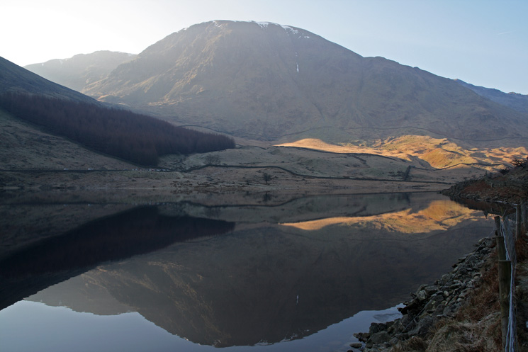 Harter Fell reflecting in Haweswater