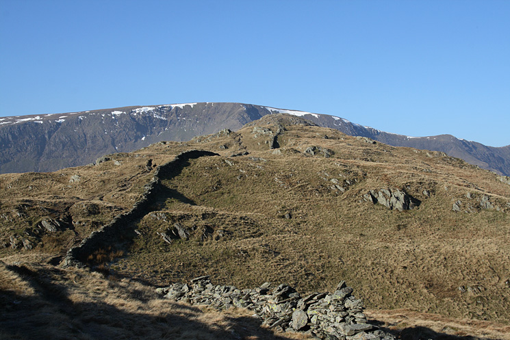 The ridge to Rough Crag with High Street beyond