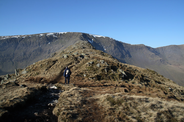 Approaching Rough Crag's summit