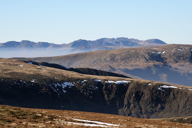 Crinkle Crags, Bowfell, Scafell, Scafell Pike and Great End