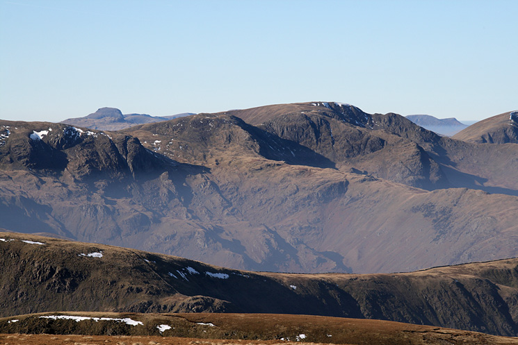 Fairfield with Great Gable behind Dove Crag on the left