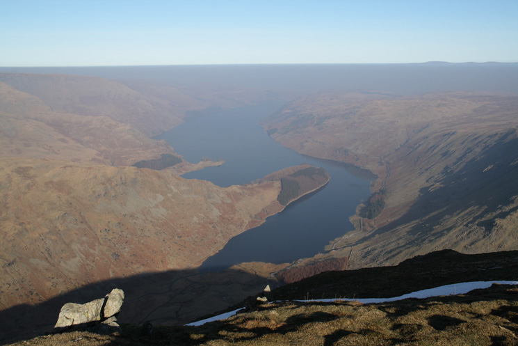 A hazy Haweswater from Harter Fell