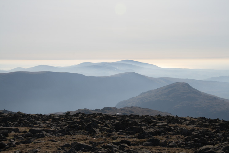 The view south from Scoat Fell's summit, not a bad lunch spot!