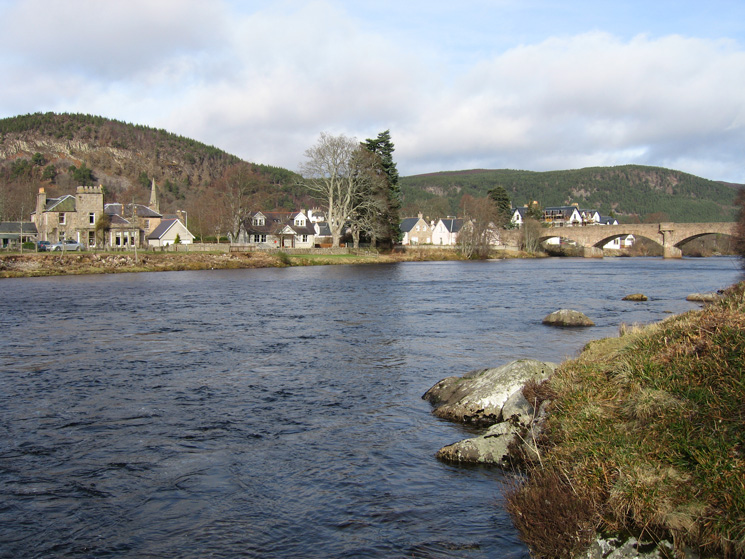 Looking over the River Dee to Ballater