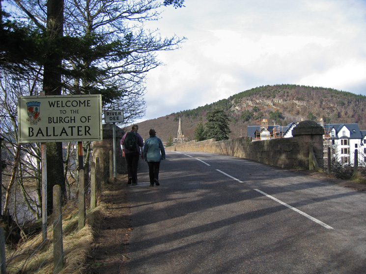 Entering Ballater over Ballater Bridge