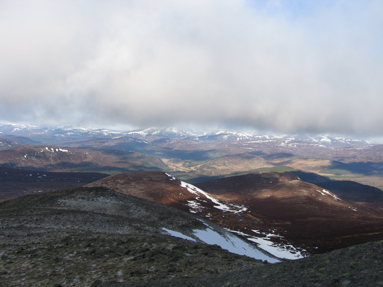 The view north west from Lochnagar's summit
