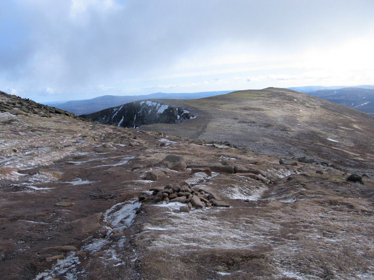 Cuidhe Crom and my ascent route, at this point I turned off to the right to descend the Glas Allt route