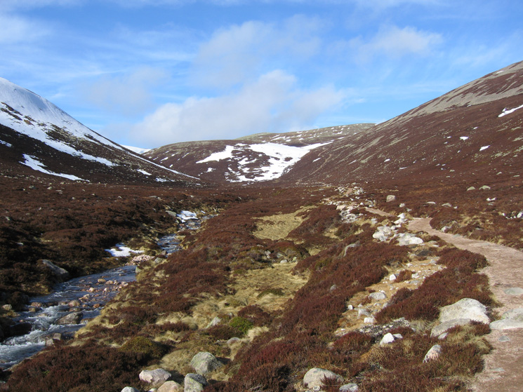 Looking back up from by Glas Allt
