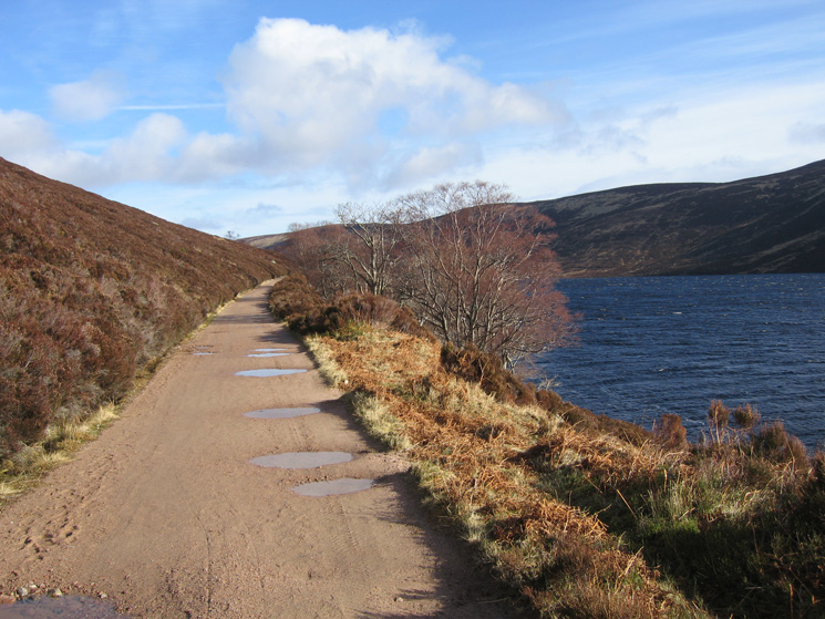 The vehicle track along the north shore of Loch Muick