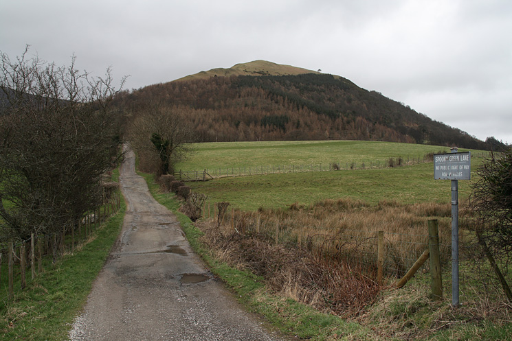 Latrigg from the end of Spoony Green Lane