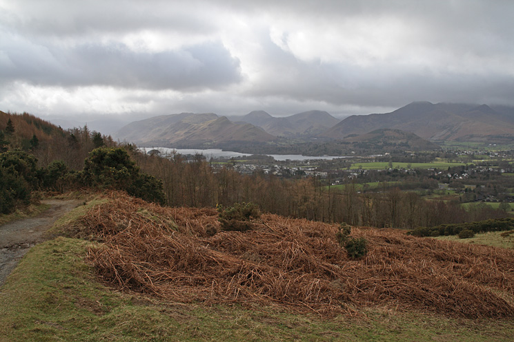 Derwent Water and the north western fells from the Cumbria Way