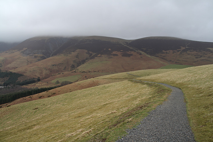 Jenkin Hill from the limited mobility path which climbs up Latrigg from the Gale Road car park