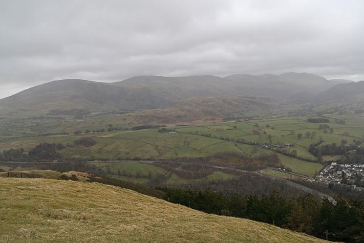 The Helvellyn ridge from Latrigg's summit
