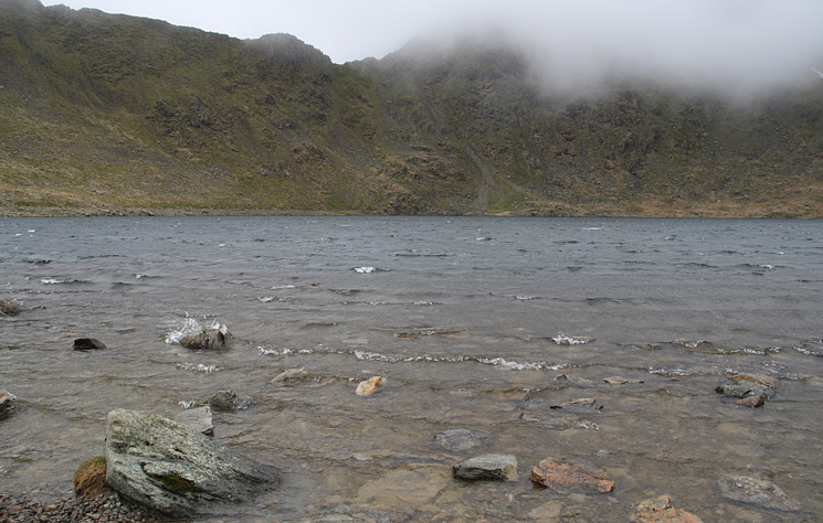 The end of Striding Edge from Red Tarn