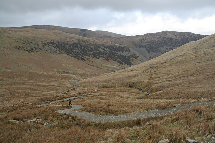The path down by Red Tarn Beck