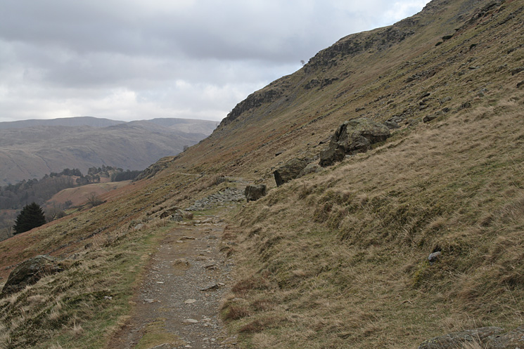 Our path above the Glenridding valley