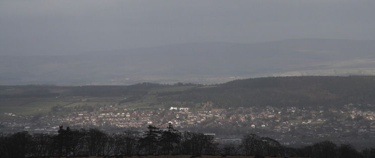 Penrith from Heughscar Hill's summit