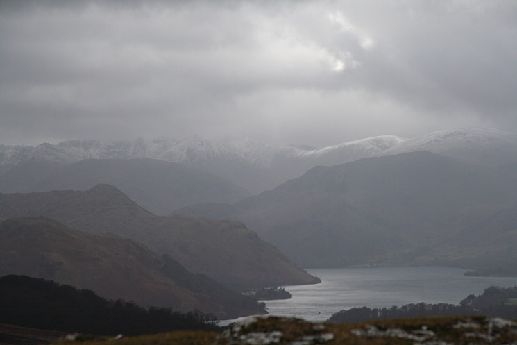 Looking south up Ullswater with some snow on Helvellyn