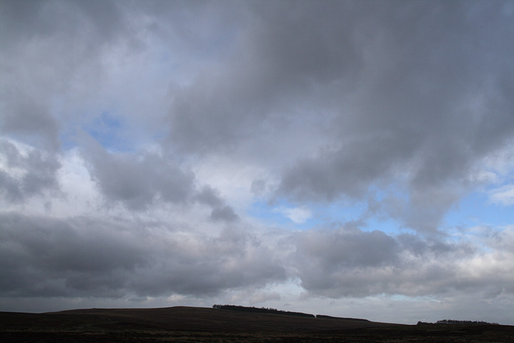 The sky above Heughscar Hill