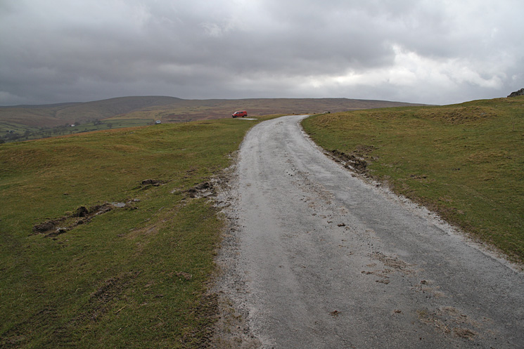 The road above Heltonhead. The high point on the skyline is Loadpot Hill