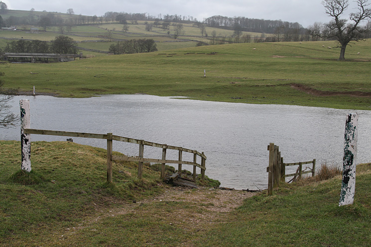 The River Lowther. This is where the horse and carriages enter the water in the horse driving trials at the Lowther Show