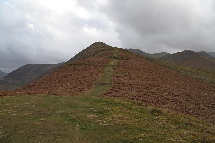 Looking up Barrow's north ridge