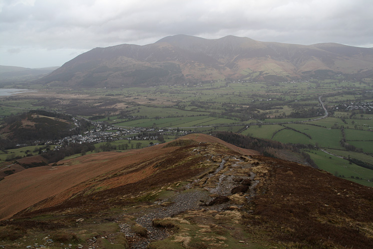 Skiddaw from high up on the north ridge